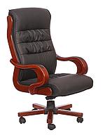 Крісло Президент 02, кожзам чорний (6243 BLACK PU + PVC)