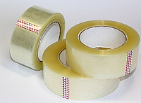 Скотч упаковочный канцелярский  40мкм*48мм*100м / Скотч прозрачный