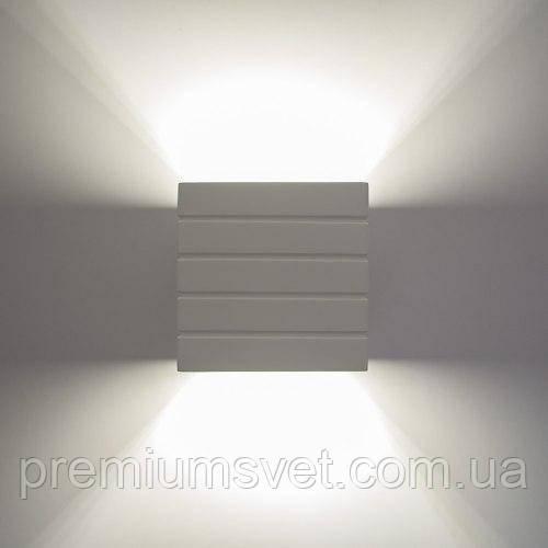 Світильник гіпсовий, бра NORWICH S1807 В WH G9 40Вт білий