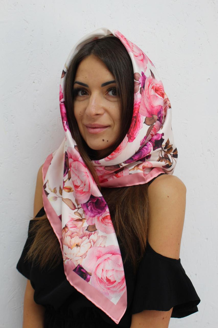 Платочек женский атласный элитный турецкий 204014