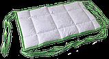 Бортик / захист в дитяче ліжечко / бортик защита в кроватку 120 * 33 см зелений кант, фото 2