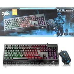 Клавиатура игровая + мышь Zeus M710 / LED Gaming Keyboard