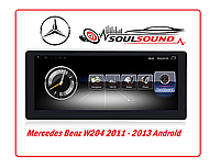 Штатная магнитола Mercedes Benz w204 android DVD GPS навигация