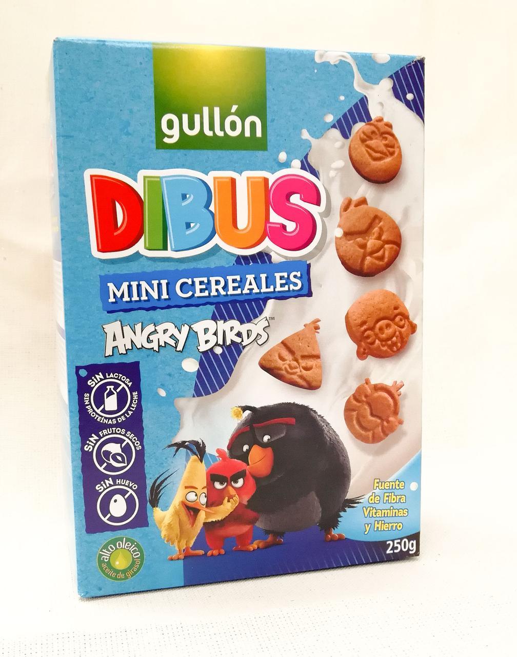 Печенье фигурное Gullon Dibus Angry Birds 250 gramm