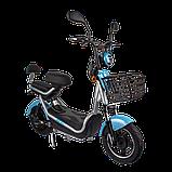 Электрический мопед  CITY gy-4 500W/48V/20AH(DZM) (серо-голубой), фото 3