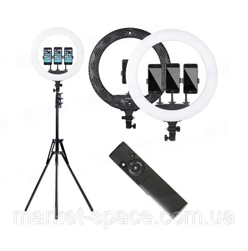 Профессиональная кольцевая лампа Ring Fill Light HQ-18N 45 см. Цвет: черный/белый