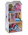 Ігровий будиночок для ляльок Барбі з меблями MD 2412, 3 поверхи, дерево, фото 4