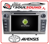 Штатная магнитола TOYOTA Avensis T27 2009 android 7.1 DVD GPS навигация тойота