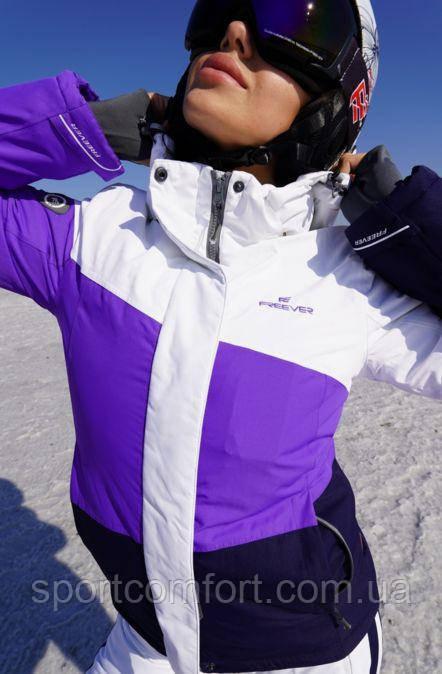 Женская горнолыжная куртка FREEVER  фиолетовая