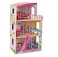 Дерев'яний будиночок для ляльок з меблями MD 2411, 3 поверхи, фото 6