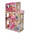 Дерев'яний будиночок для ляльок з меблями MD 2411, 3 поверхи, фото 5
