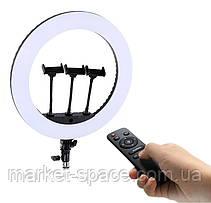 Профессиональная кольцевая лампа Ring Fill Light HQ-18N 45 см. Цвет: черный/белый, фото 3