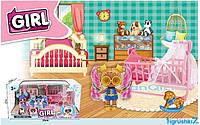 Дитячий ігровий набір меблів для ляльок Дитяча кімната (LK 1041 D)