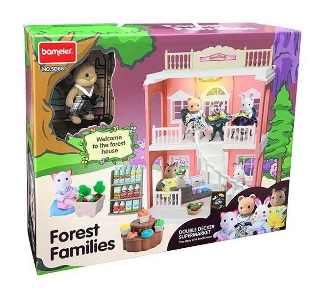 Детский игровой набор мебели для кукол Счастливая семья (SD 881)