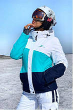 Жіноча гірськолижна куртка FREEVER бірюзова