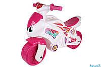 Детская каталка-толокар мотоцикл Технок (7204) Розовая