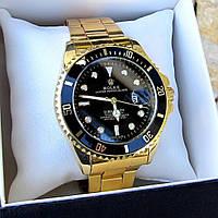 Мужские металлические часы Rolex Submariner, Ролекс субмаринер, чоловічий металевий годинник, золотые