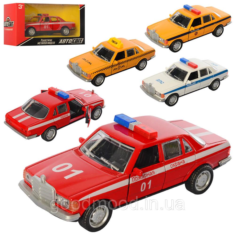Машина AS-2462 АвтоСвіт, мет., інерц., відчин.двері, гум.колеса, 4 види, кор., 15,5-8-6,5 см.