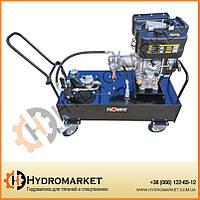 Дизельный двигатель Loncin с приводом от гидравлического контура P & T Flowfit, 10,5 л / мин, бак 50 л