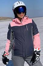 Жіноча гірськолижна куртка FREEVER пудра