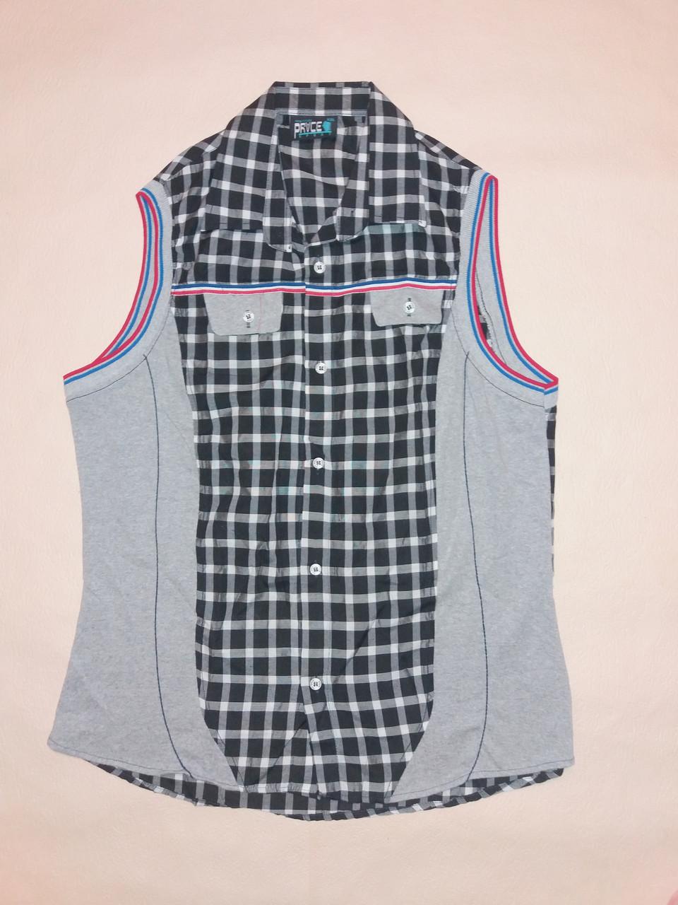 Рубашка мужская без рукавов Price р.XXL (50) Клетка