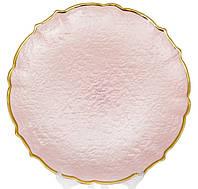 Стеклянная подставная тарелка 33 см