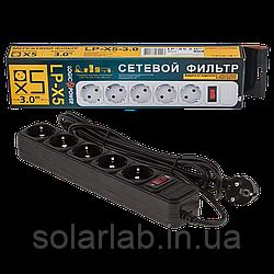 Сетевой фильтр LogicPower 5 розеток 3,0 м черный (LP-X5)