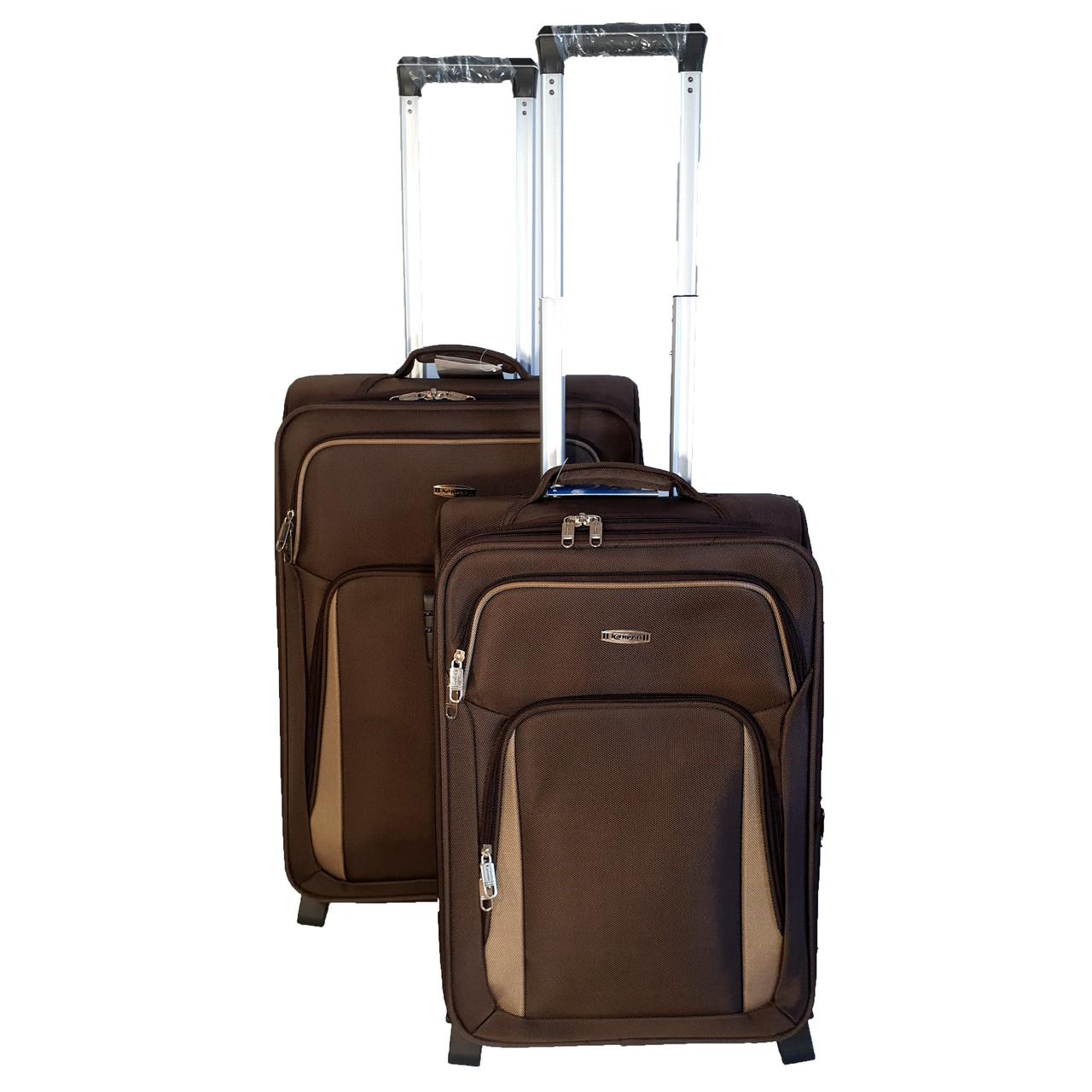 Комплект тканевых чемоданов Kaiman 2 колеса