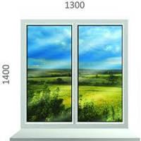 Металлопластиковое окно Steko (1300х1400) глухое ДОСТАВКА ПО УКРАИНЕ БЕСПЛАТНО!