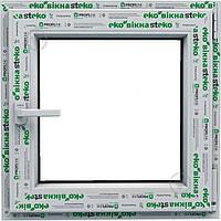 Окно металопластиковое Steko (800 х 1400) ДОСТАВКА ПО УКРАИНЕ БЕСПЛАТНО (однокамерныйс сп)