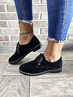 Туфли черные из натуральной замши