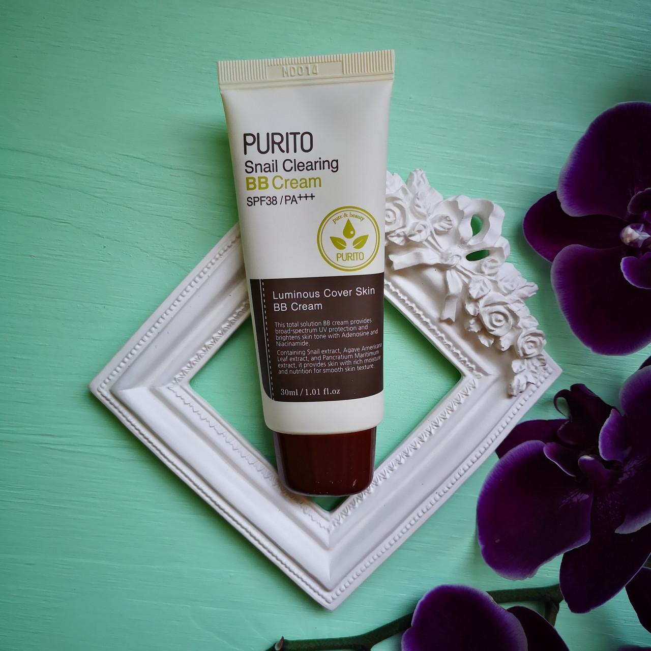 BB крем Purito с муцином улитки SPF38 PA+++ 23 Natural Beige Snail Clearing BB Cream SPF38 PA+++