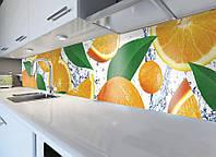 Виниловая наклейка кухонный фартук-скинали, самоклейка для кухни ReD Апельсиновый рай 60х250 см