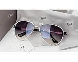 Женские солнцезащитные очки авиаторы Homme (белая оправа), фото 2