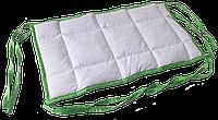 Бортик / захист в дитяче ліжечко / бортик защита в кроватку 180 * 33 см зелений кант, фото 1