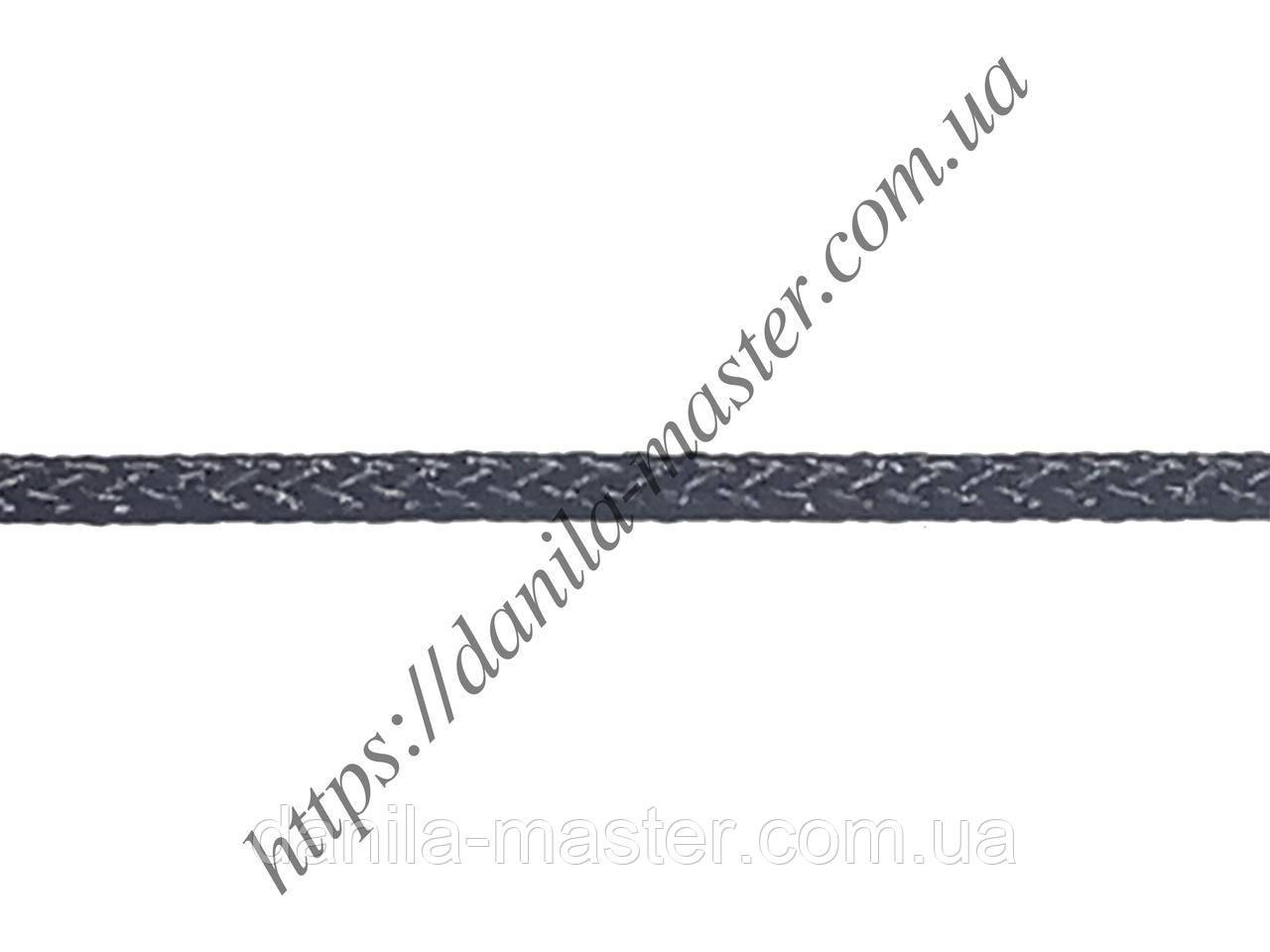 Шнур нейлоново-шовковий чорний плетений Milan 229 (d=2,0 мм)