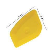 Чизлер жёлтый (70х55мм, мягкий) используется для прижима краев плёнки, заправки плёнки в уплотнители