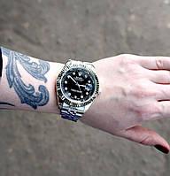 Металлические часы Rolex Date Just Silve, женские серебряные часы ролекс, жіночий срібний годинник