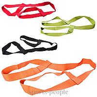 Ремінь (пояс) для йоги (розтяжки) MS 2136, розмір 150*3 см, різном. кольори, фото 1