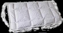 Бортик / захист в дитяче ліжечко / бортик защита в кроватку 180 * 33 см білий кант