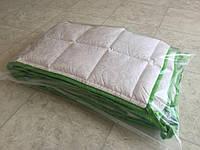 Комплект бортиків / захист в дитяче ліжечко / бортики в кроватку 180 * 33 см 2 шт зелений кант, фото 1