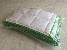 Комплект бортиків / захист в дитяче ліжечко / бортики в кроватку 180 * 33 см 2 шт зелений кант