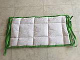 Комплект бортиків / захист в дитяче ліжечко / бортики в кроватку 180 * 33 см 2 шт зелений кант, фото 3