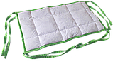 Комплект бортиків / захист в дитяче ліжечко / бортики в кроватку 180 * 33 см 2 шт зелений кант, фото 5