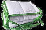 Комплект бортиків / захист в дитяче ліжечко / бортики в кроватку 180 * 33 см 2 шт зелений кант, фото 6