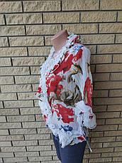 """Блузка женская шифоновая """"жатка"""" TATU, фото 3"""