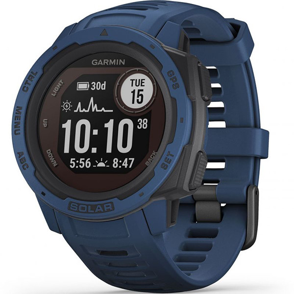 Часы-навигатор Garmin Instinct Solar Tidal Blue