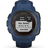 Часы-навигатор Garmin Instinct Solar Tidal Blue, фото 7