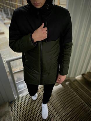 """Демисезонная Куртка """"Fusion"""" бренда Intruder (хаки - черная), фото 3"""