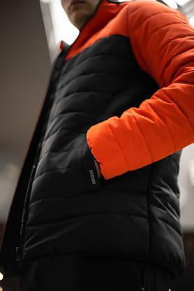"""Демисезонная Куртка """"Temp"""" бренда Intruder (оранжевая - черная), фото 3"""
